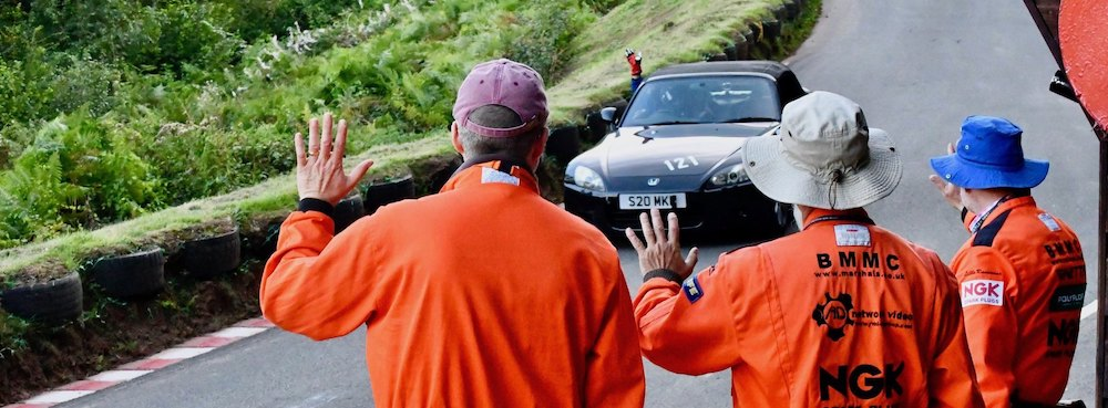Marshals at the Shelsley Walsh hill climb