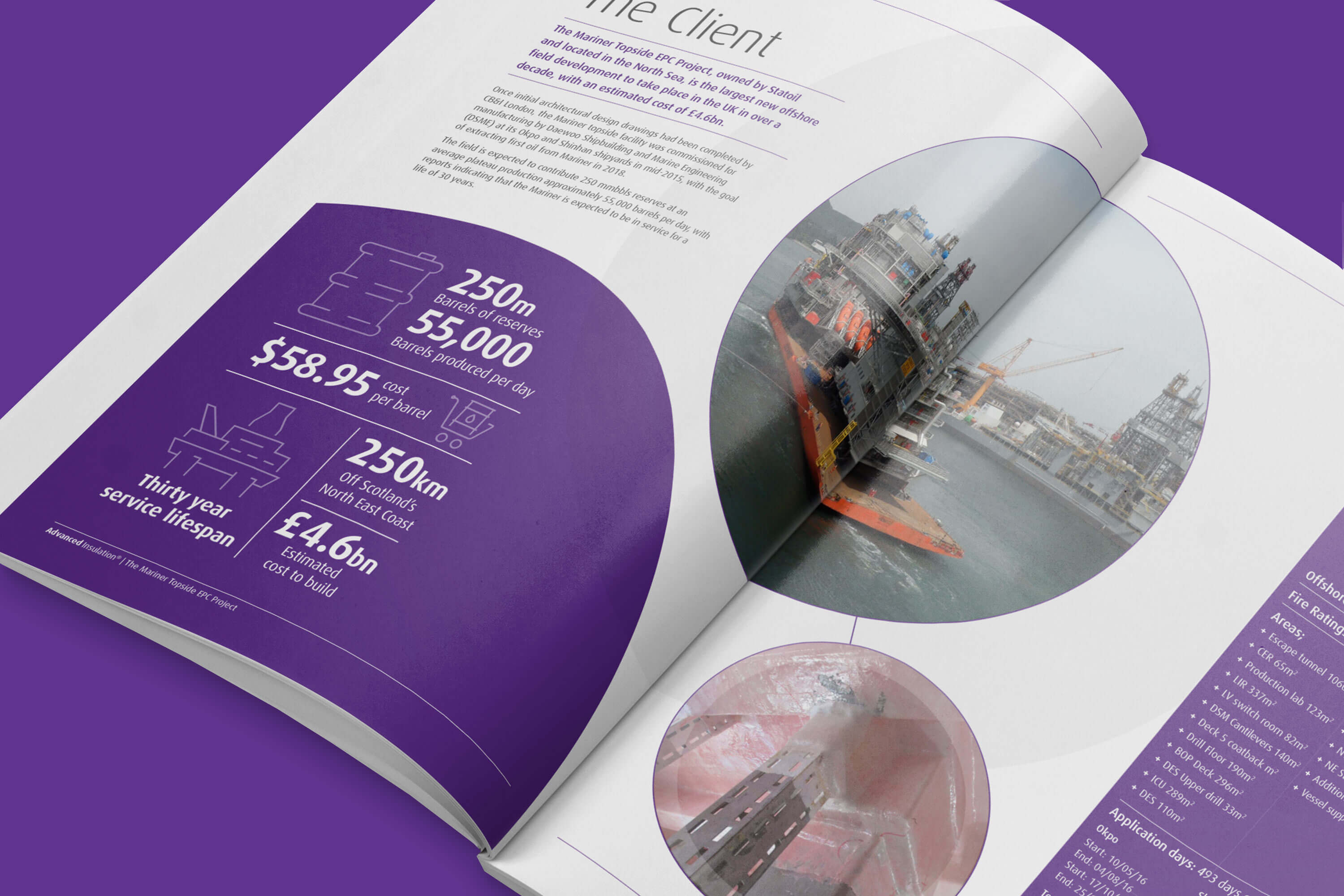 Editorial design for Advanced Insulation by Mighty, design agency Cheltenham