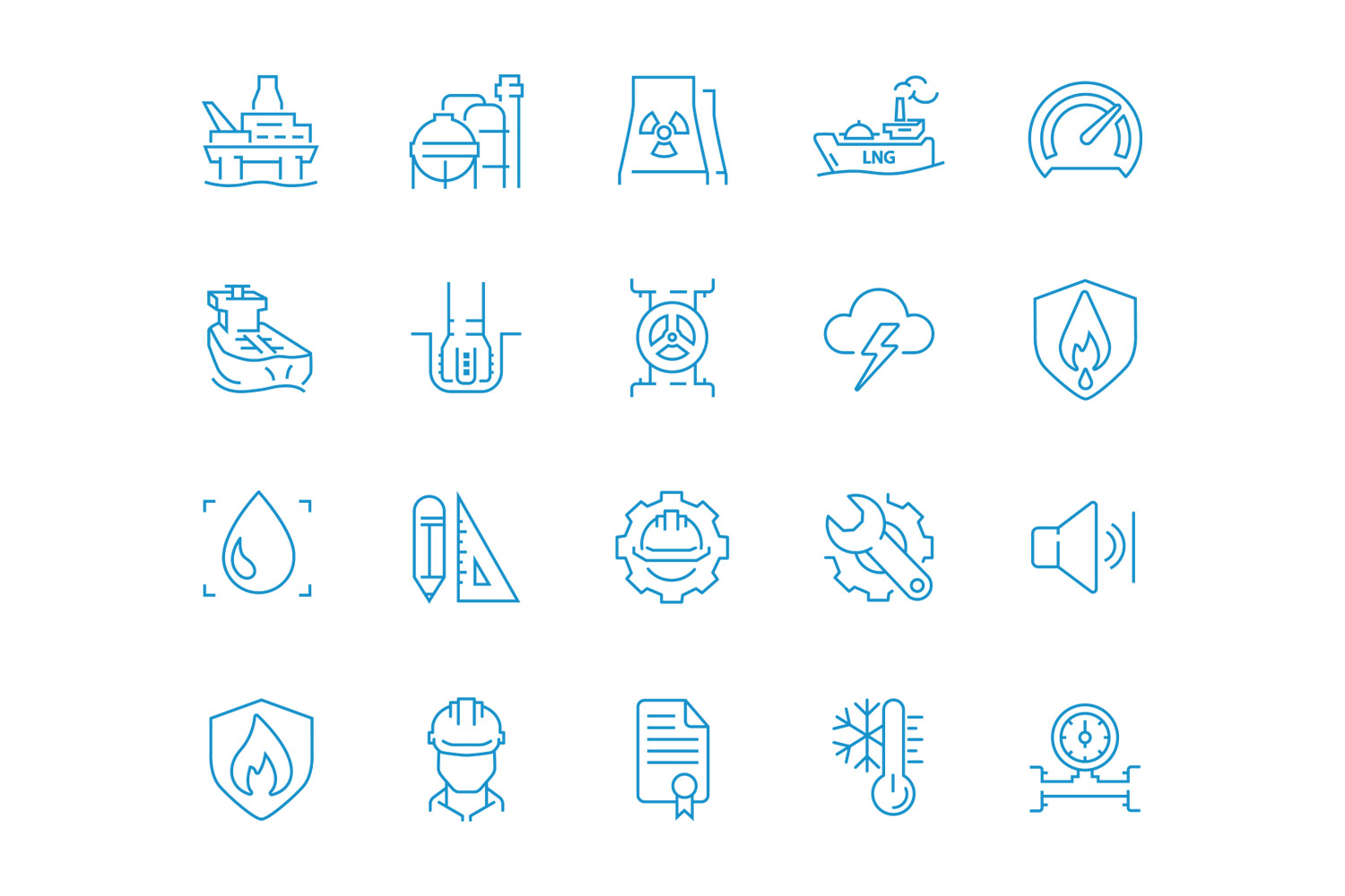 Brand icons for Advanced Insulation, designed by Mighty, design agency Cheltenham