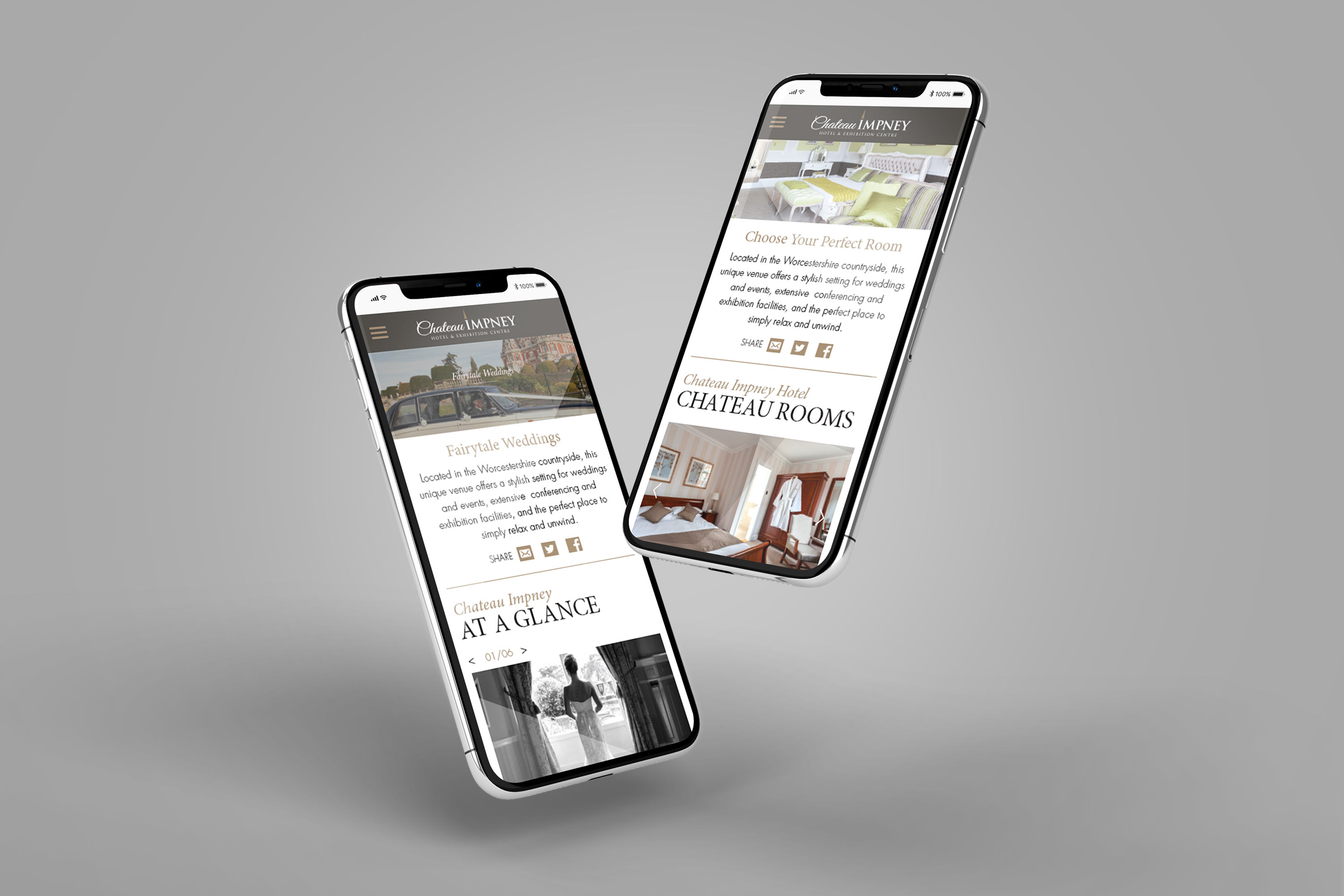 Responsive website design for Chateau Impney by Mighty, hotel marketing agency Worcester