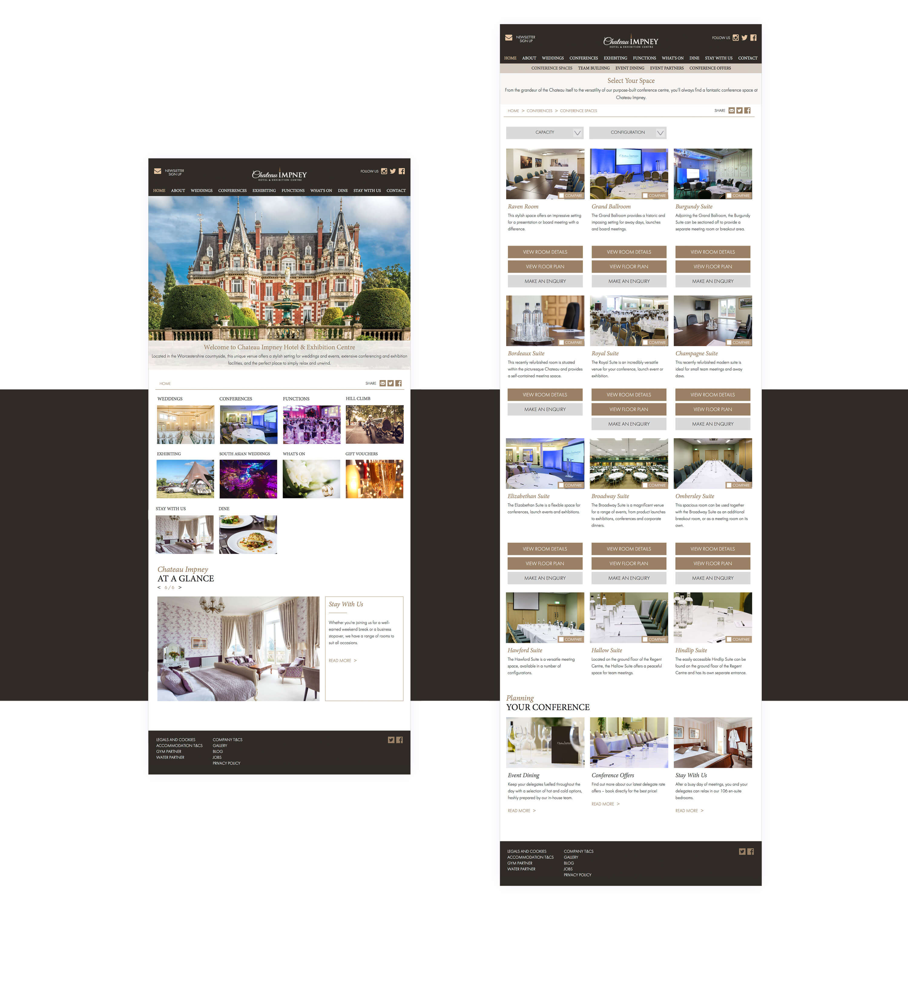 Website design for Chateau Impney by Mighty, hotel marketing agency Worcester