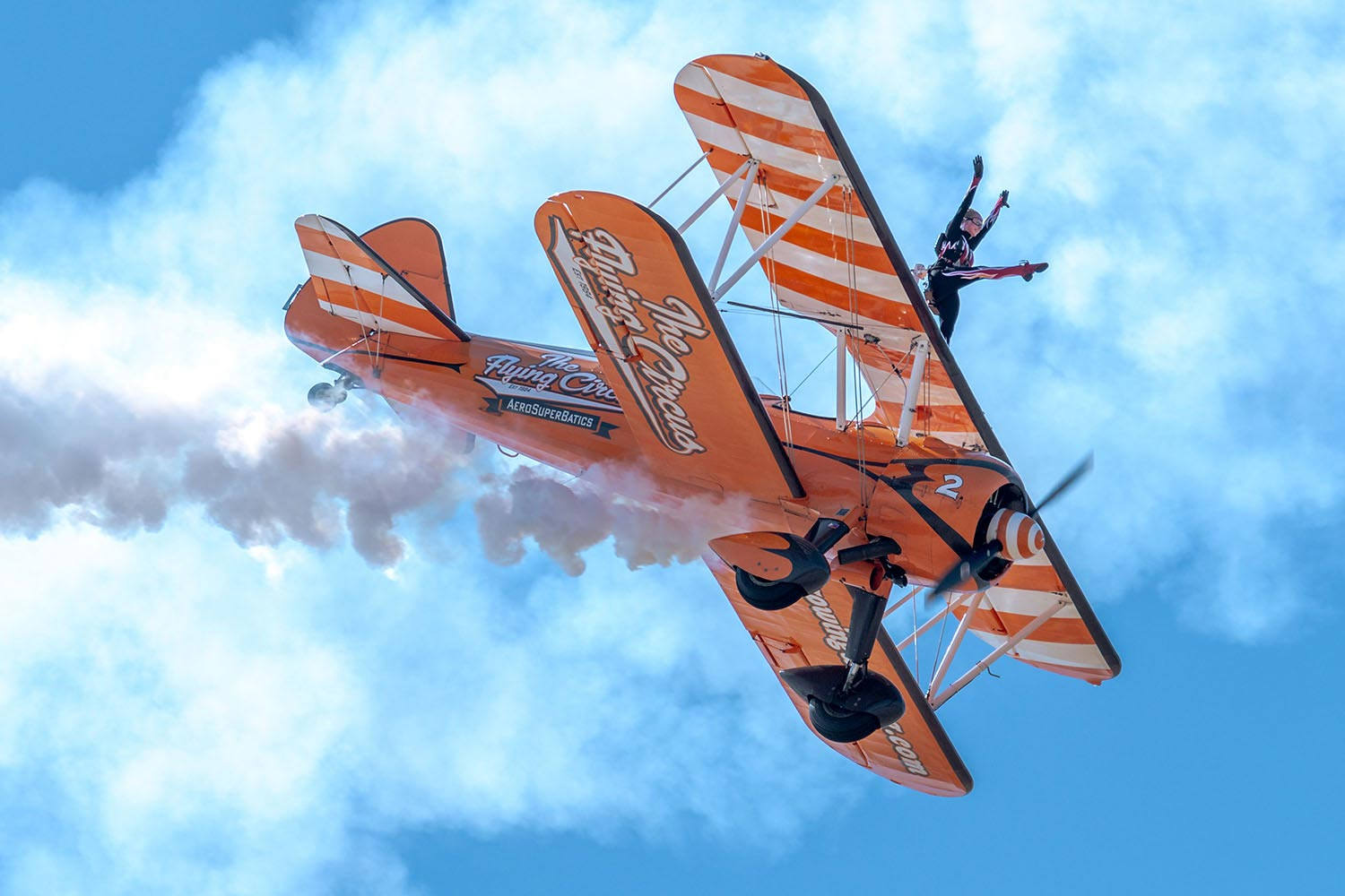 Wingwalkers photographed for Fly to the Past by Mighty, public relations agency Cheltenham and Worcester