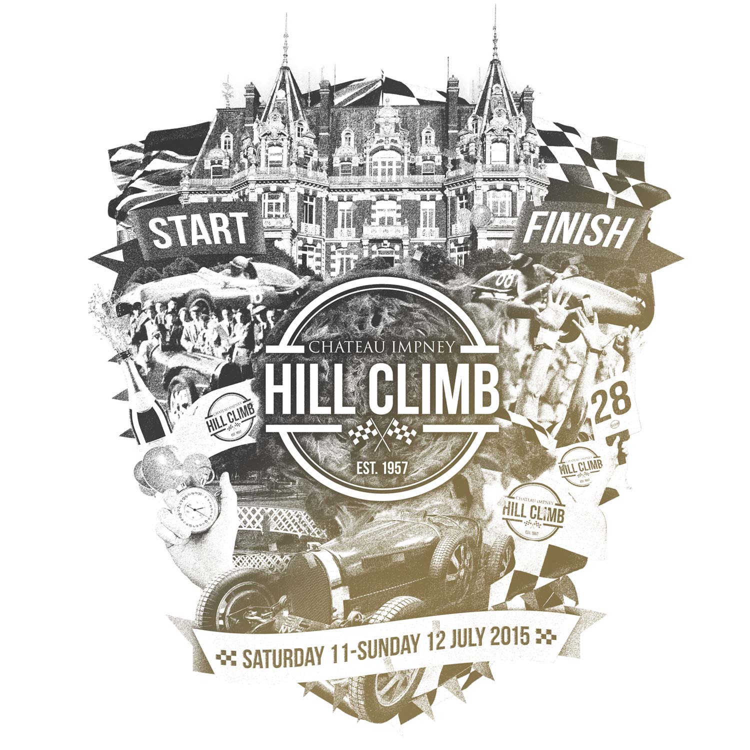 Chateau Impney Hill Climb logo development by Mighty, marketing agency Worcester