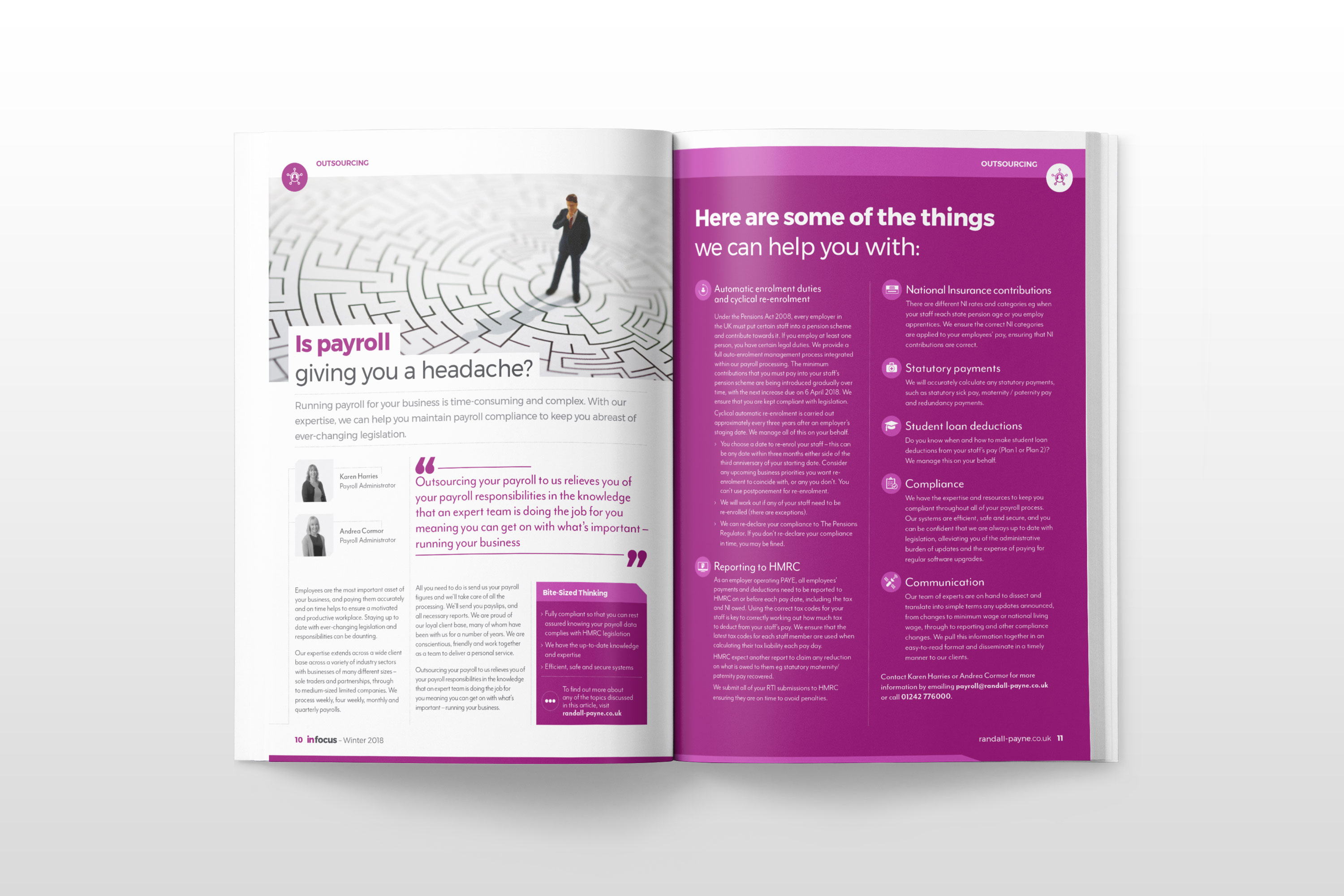 Article design for In Focus by Mighty, design agency Cheltenham