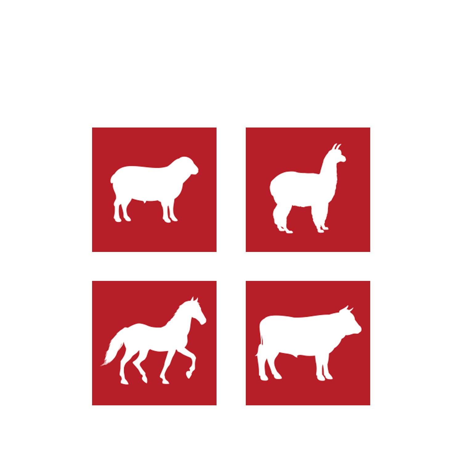 Animal icons designed for Lister Shearing by Mighty, branding agency Cheltenham