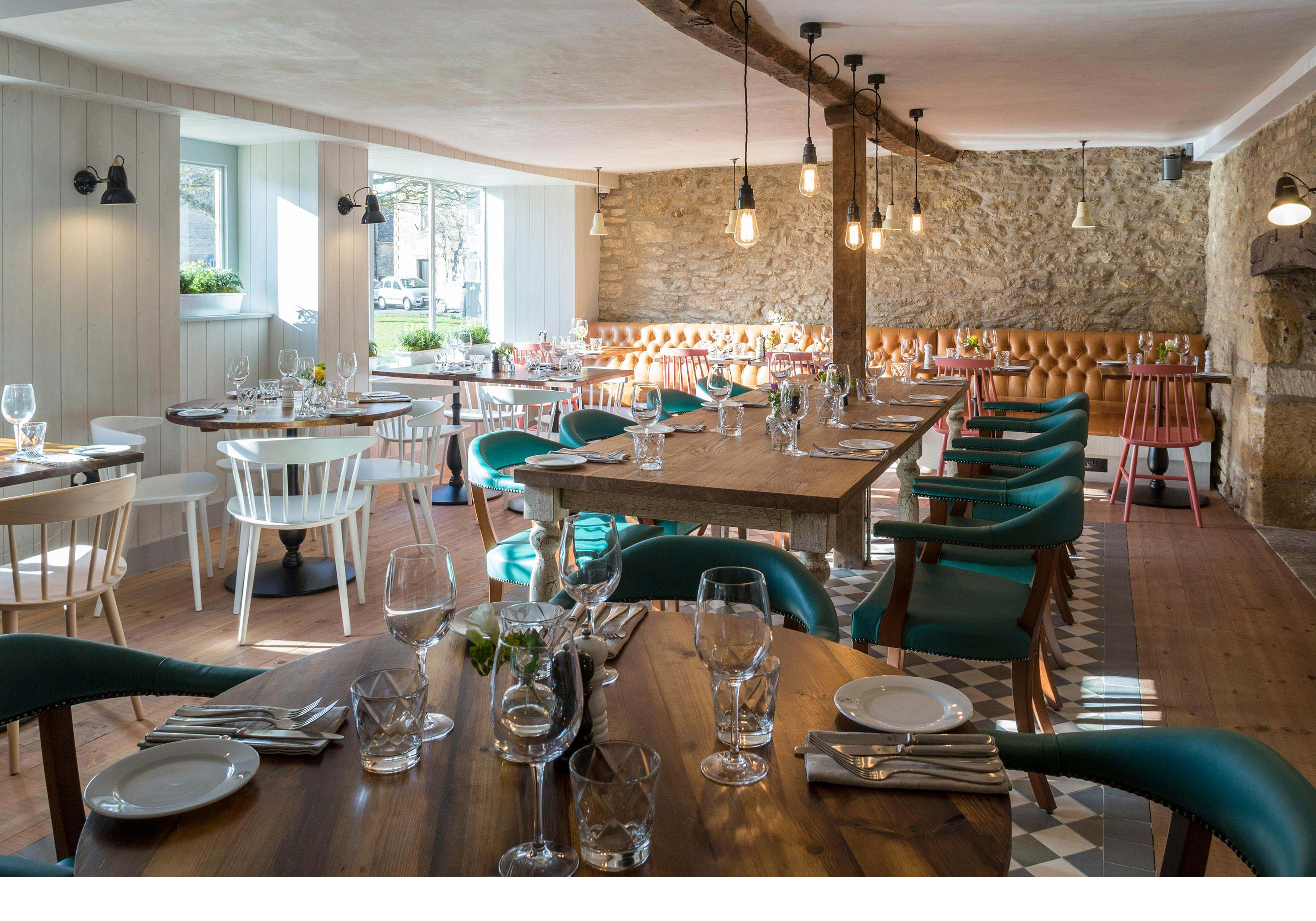 Restaurant photography for The Old Stocks Inn by Mighty, hotel marketing agency
