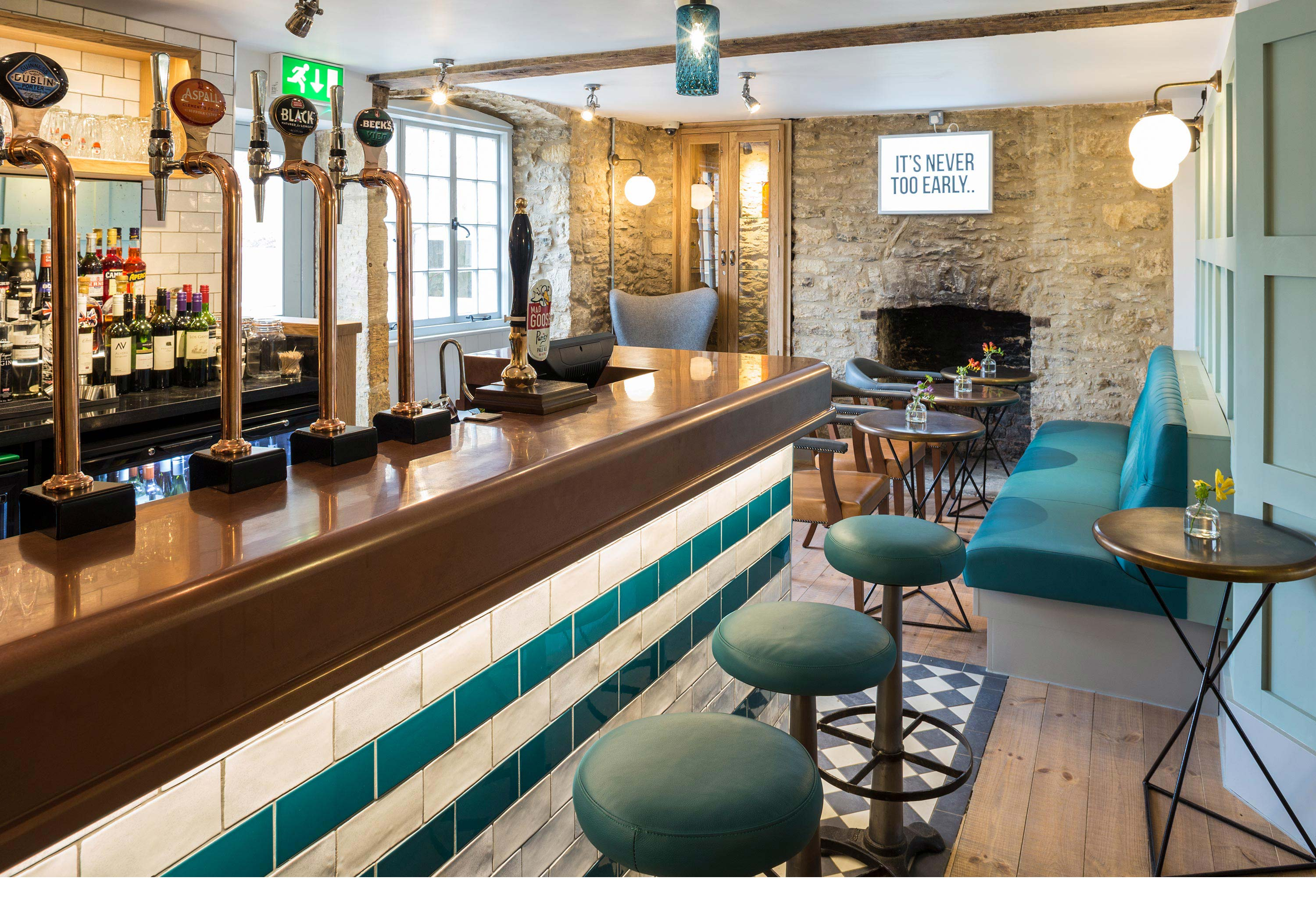Bar photography for The Old Stocks Inn by Mighty, hotel marketing agency