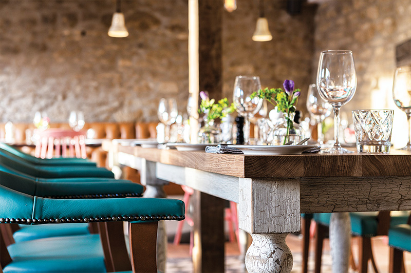 Hotel restaurant photography for The Old Stocks Inn by Mighty, hotel marketing agency
