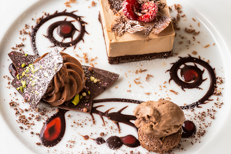 Dessert photography for The Old Stocks Inn by Mighty, hotel marketing agency