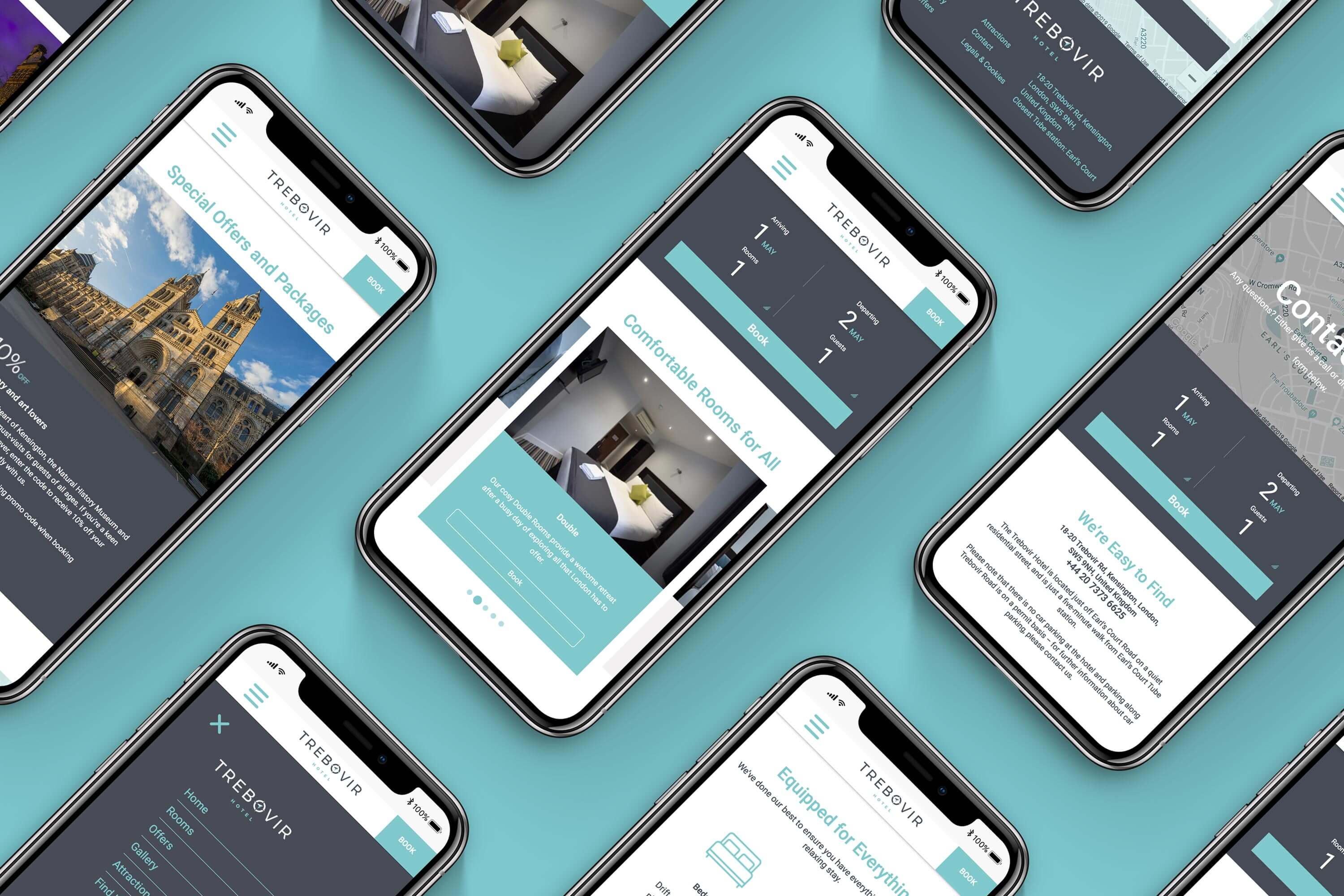 Responsive web design for Trebovir Hotel by Mighty, marketing agency Worcester